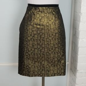 LOFT Metallic Pencil Skirt